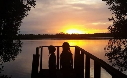 kids-sunset
